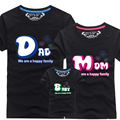 (1 size is for 1 pcs)Summer Style Set Short Sleeve T-shirt Set Kids Clothes  Set For Mother Daughter and Father Son