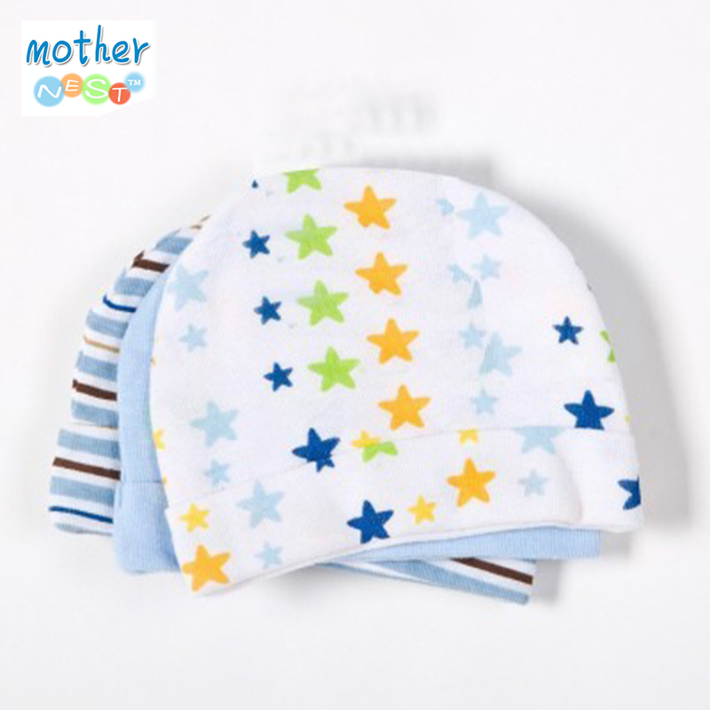 3pcs / lot Babyhatt Babyhatt Infant Cap Cotton Infant Hattar Skalle Caps Småbarnsflickor Flickor Mössor