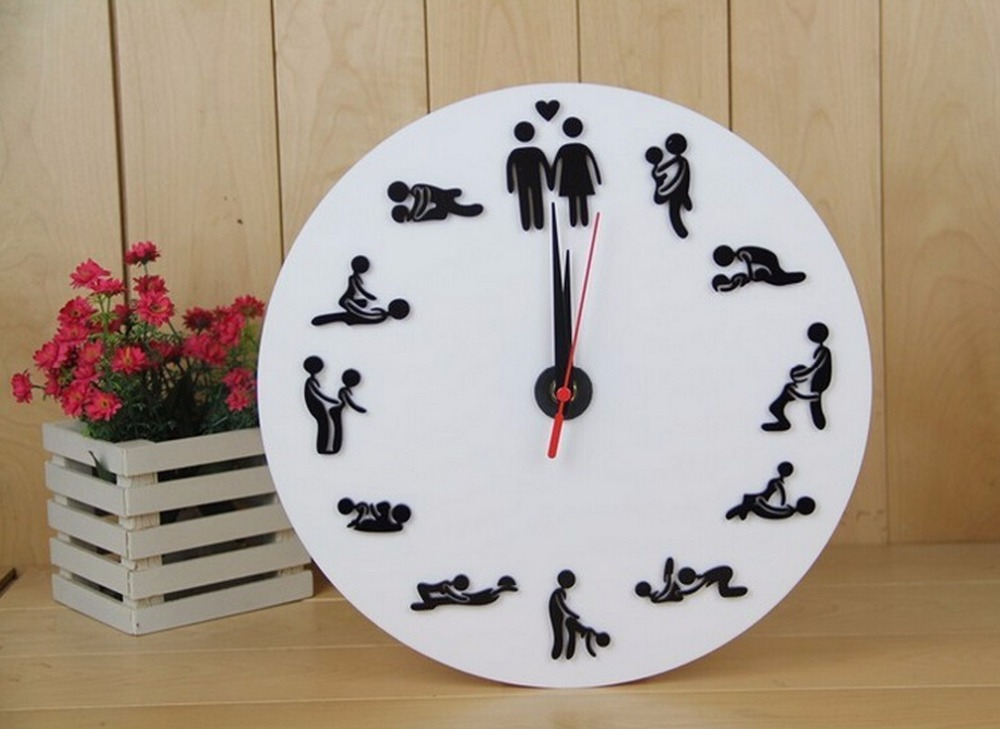 Aliexpress.com : Buy Black Two sided wall clocks special wall ...