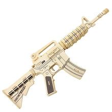 Wooden Gun Percussion Parent child Interaction Baby Toys Children Percussion 3D Puzzle Educational Baby Models Building