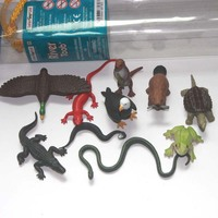 solid pvc figure Frog lizard big snapper turtle animals models toys children birthday gift ornaments 12pcs/set