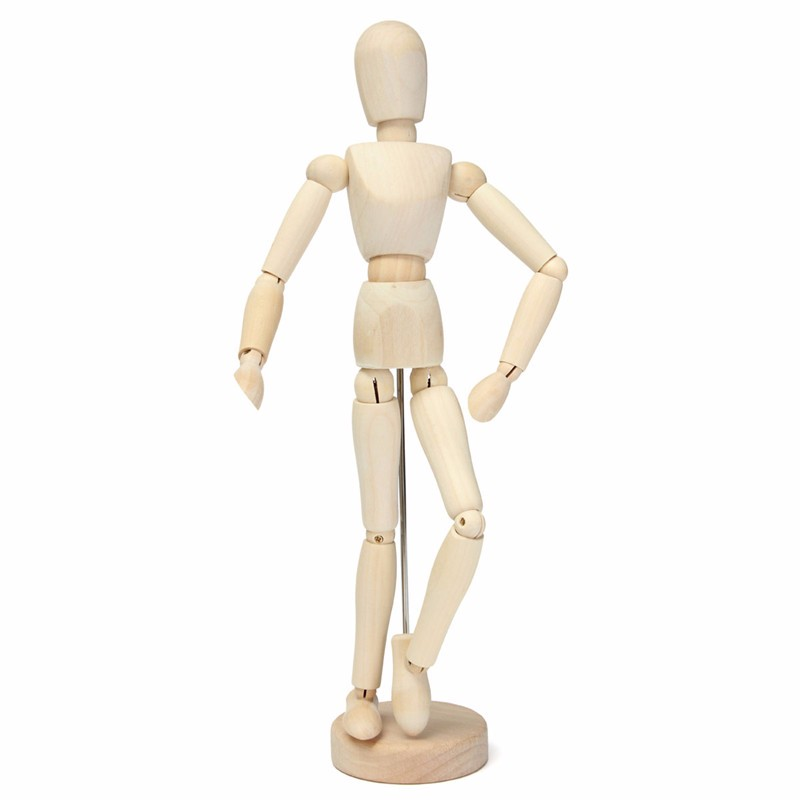 30cm 12 wooden manikin movable limbs human mannequin model for