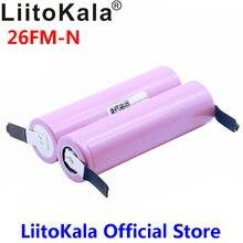 Bateria 100% original liitokala, bateria 18650 2600mah ICR18650-26FM li-ion 3.7 v + folha de níquel para faça você mesmo