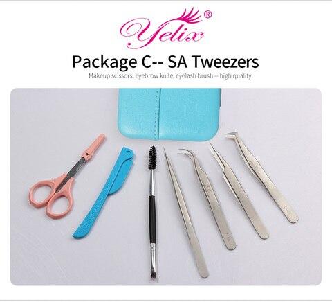 profissional vetus pincas conjunto de ferramentas cilios
