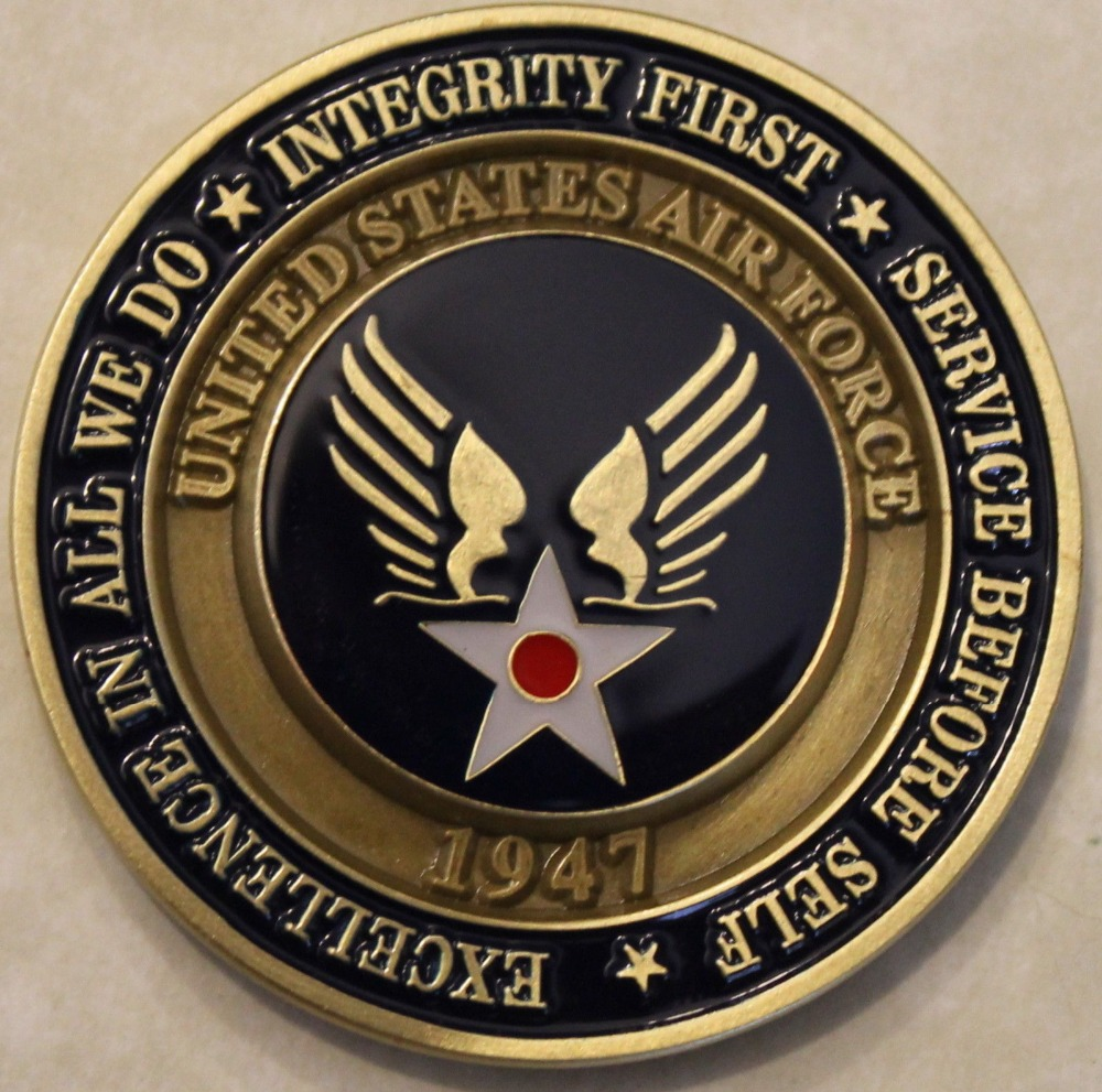 Air Force Airman Award Aim High Coin ... Fly Fight Win Challenge Coin / USAF / V2 50pcs/lot DHL free shipping