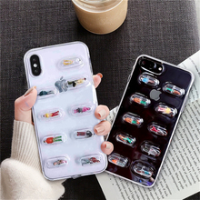 Soft Case Pill Capsule People Funny Mobile Phone Case For iPhone 6s 6 Plus 7 7Plus
