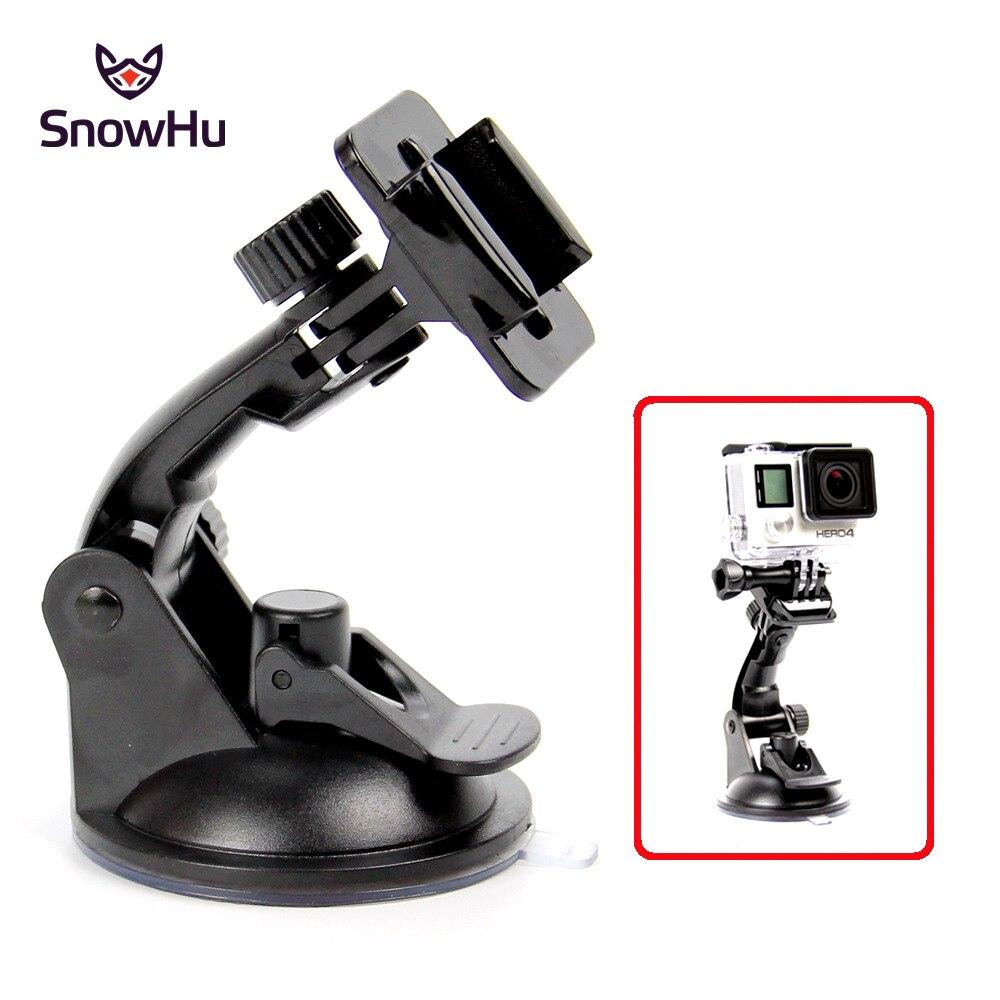 SnowHu Action Camera Suction Cup For GoPro Hero 8 7 6 5 4 Sony SJCAM Yi 4K H9 Go Pro 7 Mount Window Glass Sucker Accessory GP17