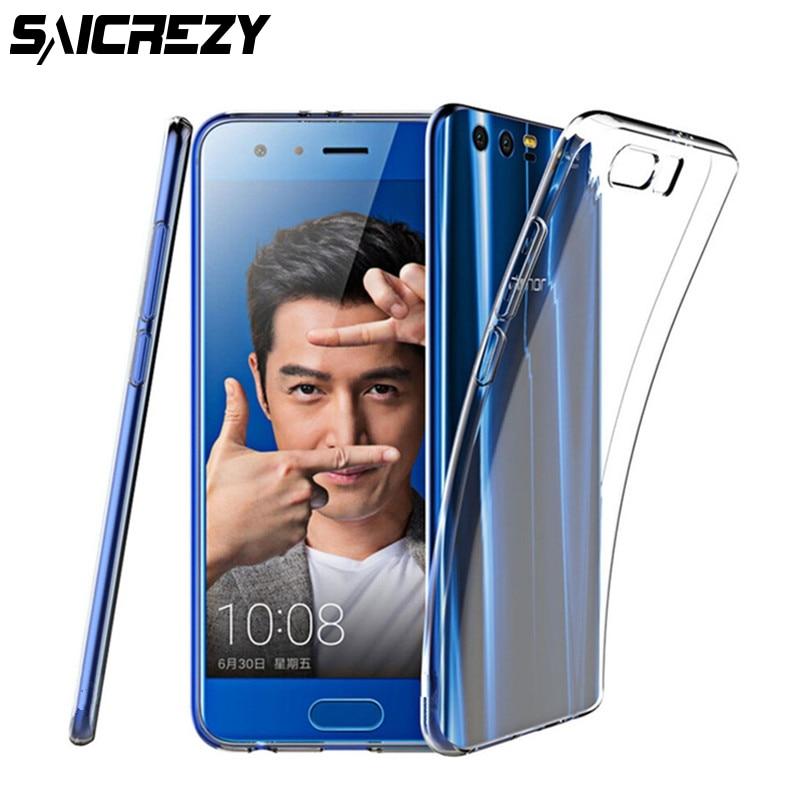 Ультра тонкий прозрачный мягкий прозрачный гель ТПУ чехол для Huawei Honor 9 lite V9 чехол Бампер телефон задняя крышка силиконовый кожи