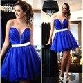 En La Moda de Zafiro Vestido de Novia 2017 vestido de festa Sashes Balón vestido de Cóctel Vestidos Del Partido Mini Vestidos de Mujer Amy6