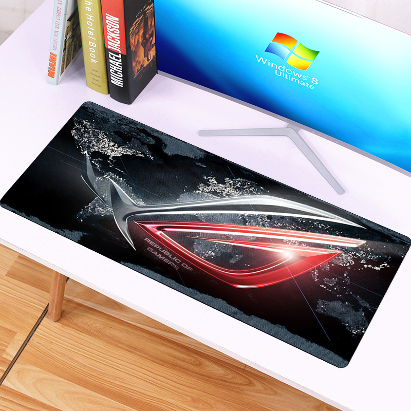 70x30cm Gaming Mousepad Large  The Eyes Of ASUS Desk Mat Locking Edge Republic Of Gamers Fashion Mouse Pad For Office Notebook