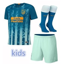 2792b1b6d 2019 Thai football jerseys Quality Second away Atleticoed Madrided kids kit  soccer Jersey Shirts 18 child