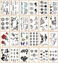 20 Models Lot Tattoo Sex Products Temporary Tattoo For Man And Woman Waterproof Stickers WSH111-20pc
