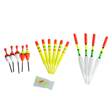 15Pcs 1 Set Vertical Buoy Sea Fishing Floats Assorted Size For Most Type Of Angling With Attachment Rubbers Fishing Lure Tackle