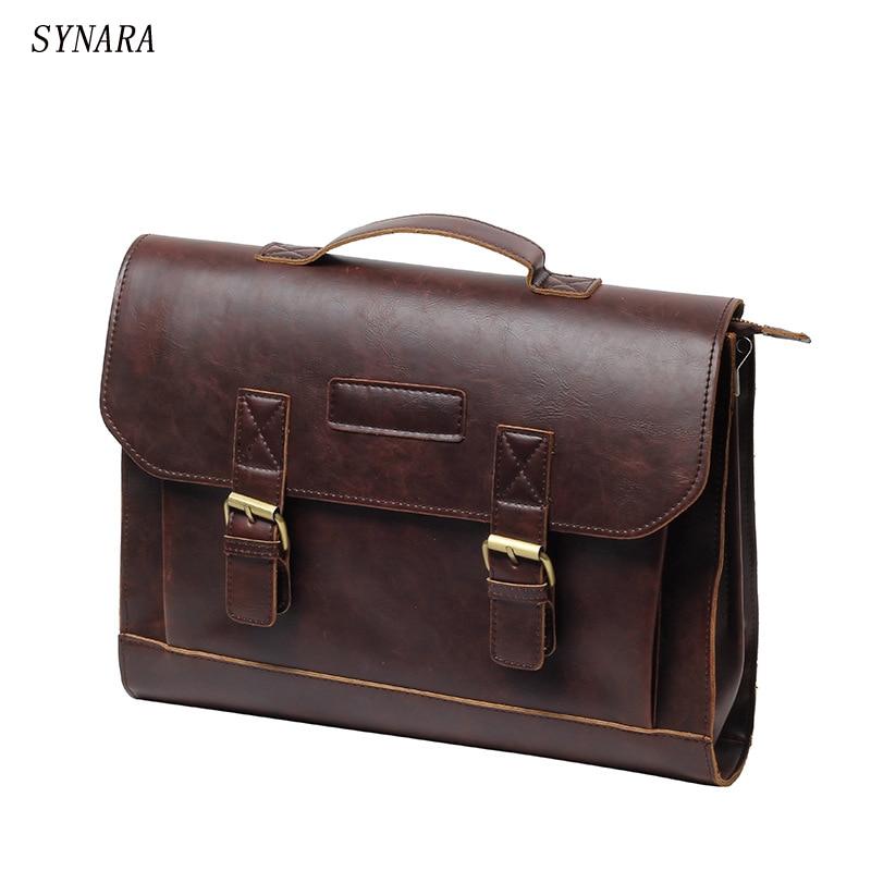 Vintage Men Messenger Bags Brand Satchel men's briefcases office men crossbody bags Free transportation стоимость