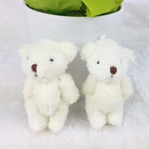 Image 2 - 6 個/lotminiテディベアぬいぐるみぬいぐるみ 6.5 センチメートル小さなクマぬいぐるみ白peluciaペンダント子供の誕生日ギフトJ00301