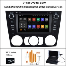 Android 7.1 Quad Core CAR DVD palyer for BMW 3 Series E90 E91 E92 E93 RADIO+1024X600 HD+DVR/WIFI/3G+DSP+RDS+16GB flash