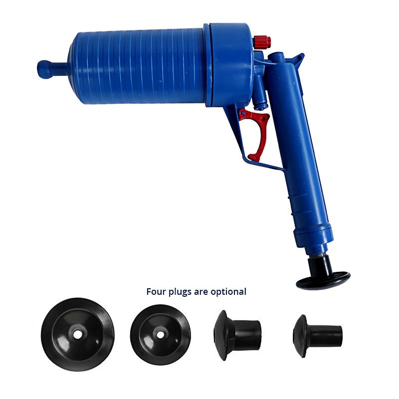 high-pressure powerful manual sink plunger and air power drain blaster gun for toilets