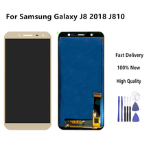 цена на High Quality Lcd For Samsung Galaxy J8 2018 J810 SM-J810 LCD Display Touch Screen Digitizer Assembly TFT Gold Color +Tools