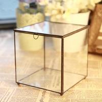 Glass Flower Room Yongsheng Flower Geometric Glass Flower Room Beautiful Glass Jewelry Box Gift
