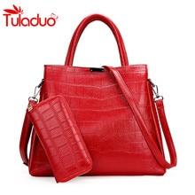 2017 Women Bags Designer Women's Handbags And Purses Crocodile Pattern Crossbody Bag 2 Set Alligator Luxury Handbags Ladies SAC