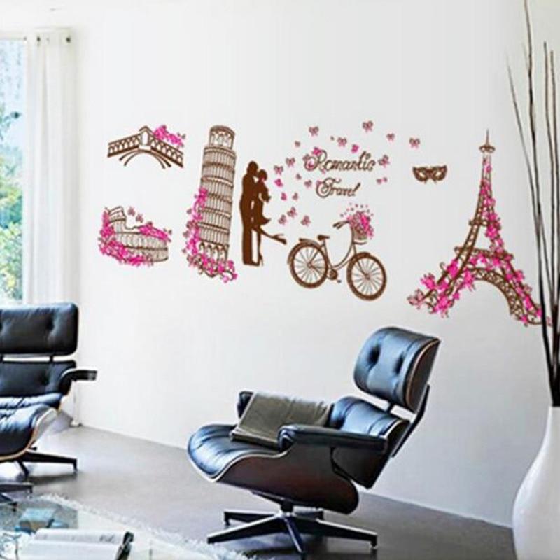 Buy Romantic Paris Eiffel Tower Wall