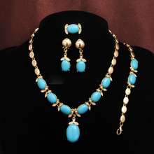 Bohemian Simulated-Stone African Jewelry Sets for Women Wedd