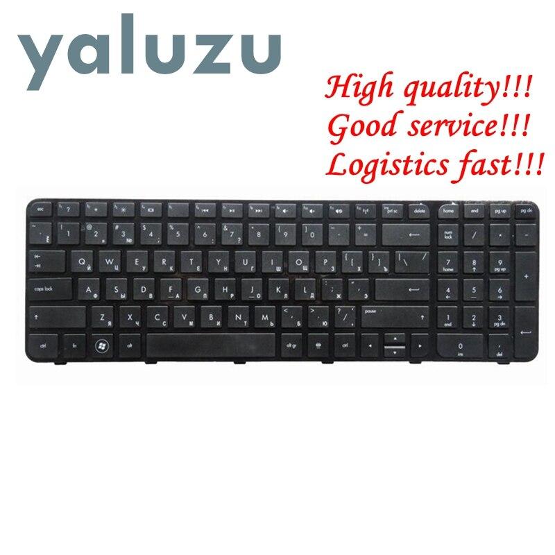 YALUZU teclado portátil ruso para HP para Pavilion G6 G6-2000 G6Z-2000 g6-2100 G6-2163sr AER36Q02310 R36 RU negro con marco nuevo