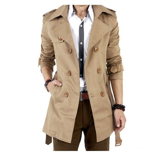 Aelegantmis Men Trench Coat...