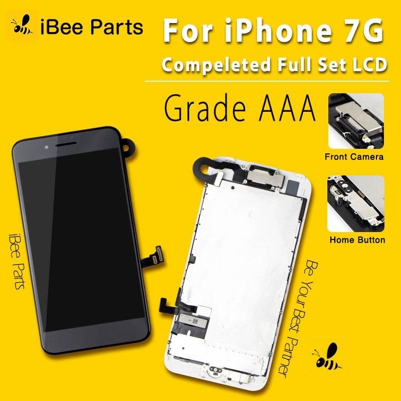10 шт. Полный ЖК-экран для iPhone 7 ЖК-дисплей полный дисплей сенсорный экран дигитайзер полная сборка + кнопка Home + камера