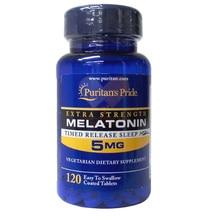Free shipping Melatonin 5 mg nighttime sleep 120 pcs