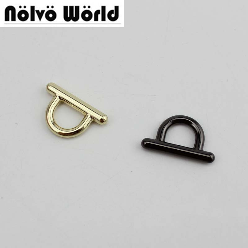 100pcs connect buckel gold finished color die casting metal fitting hardware bags accessories screw connector hanger wholesale 50pcs 100% copper die casting 11 9mm round head rivet screw for bags hardware high quality rivets accessories