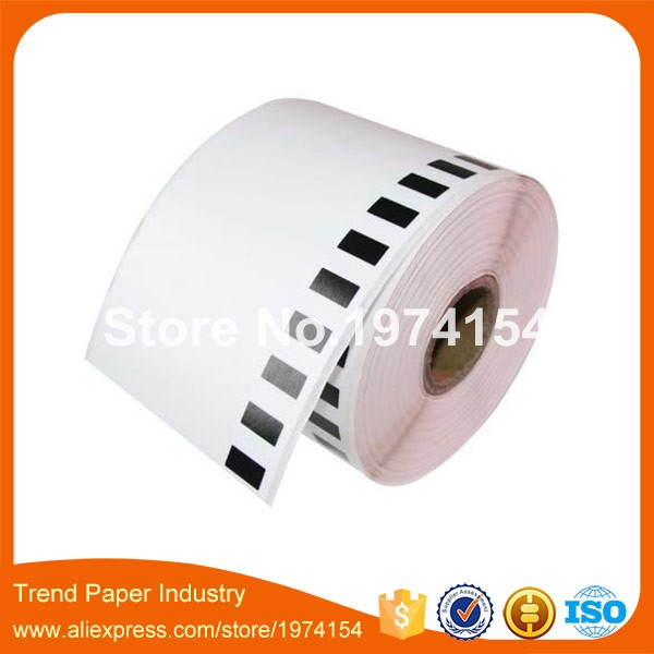 10 Rolls adhesive thermal printer roll,62mm dk-22205 continuous dk label roll dk-2205