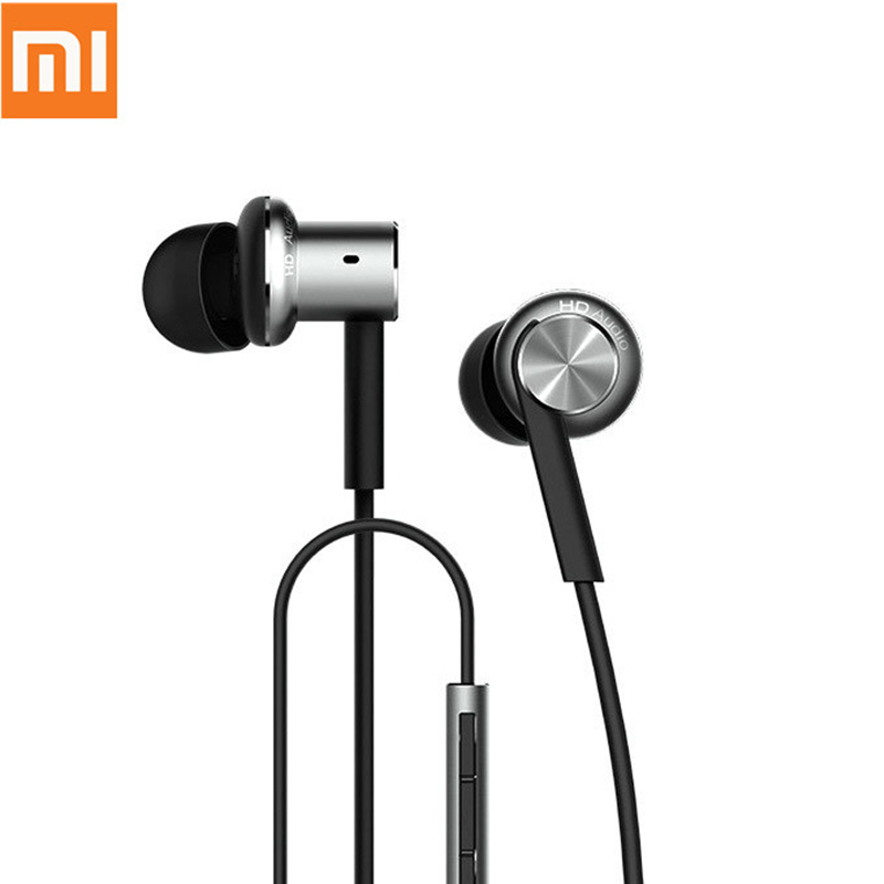 Original Xiaomi Earphones Hybrid Pro HD In-Ear with Mic Wired Control Earphones for Android iOS Xiaomi Red Mi Mobile Phone em290 copper wire earphone in ear with mic clear 3d sound quality handsfree call for android ios smartphone oppo xiaomi mp3 pc