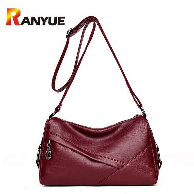 b128eb32f616 RANYUE Soft Pu Leather Women Handbags Patchwork Women Shoulder Bag Hobos  Crossbody Bags For Women Casual Tote Messenger Bags Sac