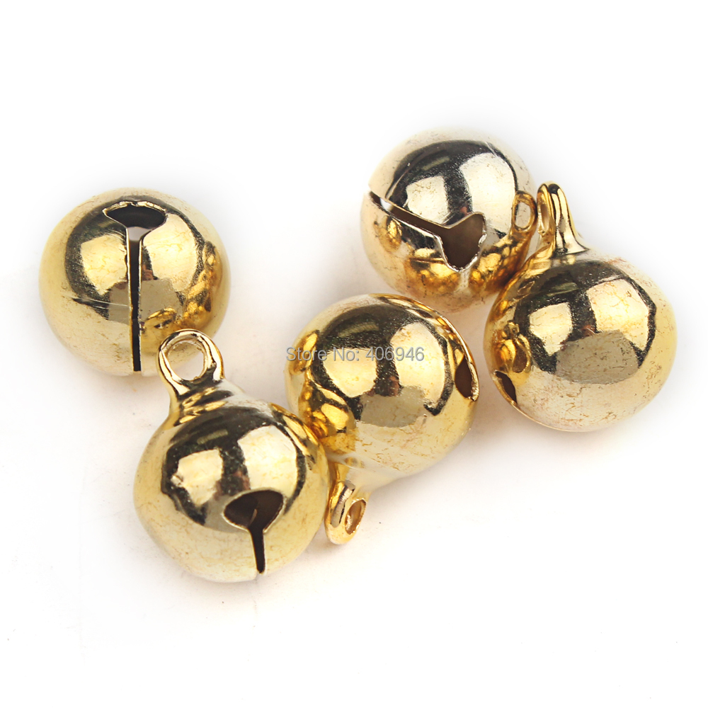 Jingle bell ornaments - New 2017 15 12mm Fashion Small Jingle Bell Gold Plated Beautiful Christmas Bell Ornaments Decoration