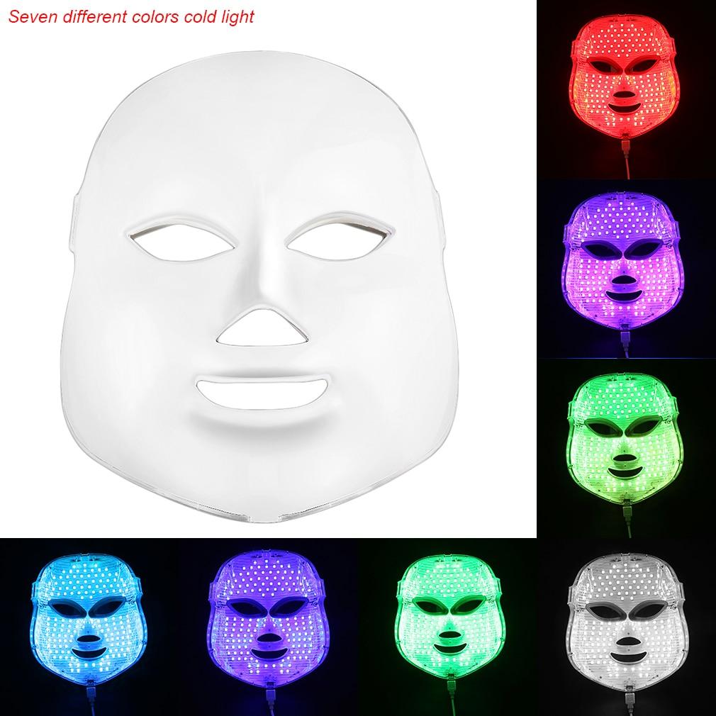 Korean Photodynamic LED Facial Mask Beauty Instrument Anti acne Skin Rejuvenation LED Photodynamic Beauty Face Mask Hot Sale hot sale safety home use electric potential therapeutic instrument beauty
