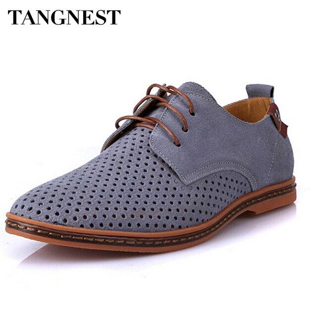 993781888 Tangnest Homens Oxfords Sapatos Homem Verão 2018 Respirável Sapatos de Camurça  Sapatos de Couro Homem Britânico