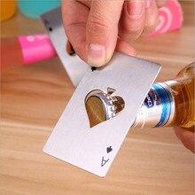 Открывалка для бутылок из нержавеющей стали 1 шт. покерные игровые карты Ace of Spades Бар Инструмент газировка, пиво, бутылка крышка открывающийся инструмент для кухонный подарок