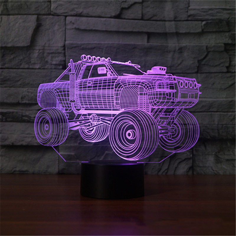 3D Car Shape Lamp 7 Colors LED Touch Swithc NightLight USB Sleep Lighting Lampara Kids Table Lamp Gifts Bedroom Bedside Decor