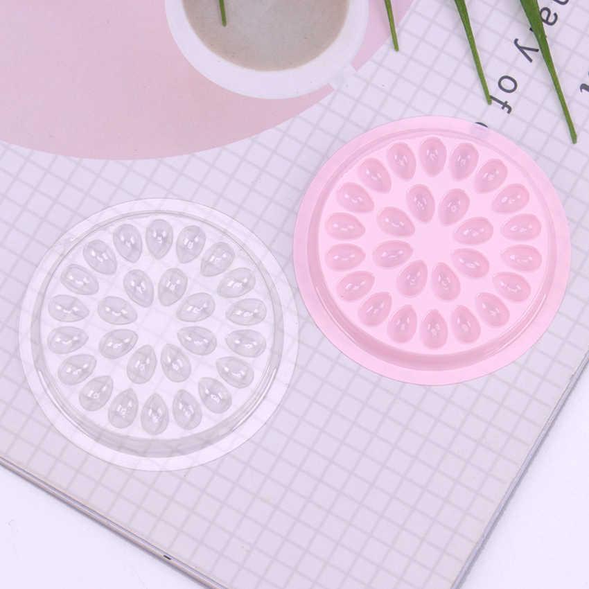 10 Uds junta con pegamento plástico almohadilla con forma de flor extensión de pestañas postizas soporte de pegamento palés para herramientas de extensión de pestañas
