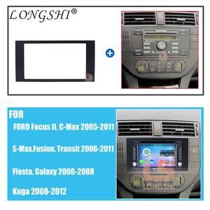 Image 3 - Автомобильный радиоприемник 2 DIN для FORD Focus II C Max S Max Fusion Fiesta, комплект рамок 2005 2011, крепление для приборной панели, адаптер, отделка панели 2 DIN