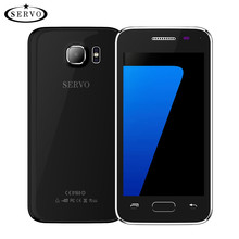 original Phone SERVO S7 mini 4.5 inch MTK6572 Dual Core phone dual sim Android 4.4.2 OS 2.0MP GSM WCDMA Google Play with case