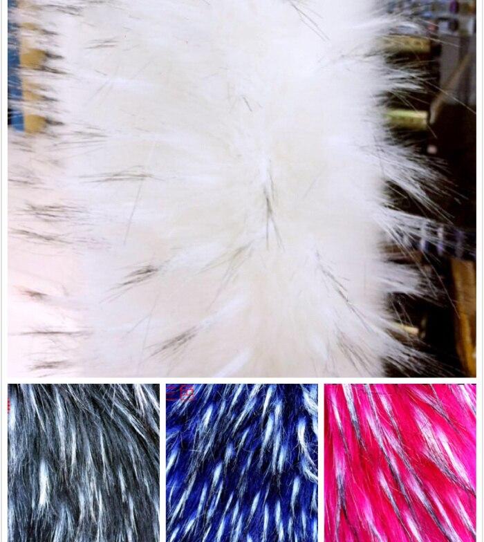 Высококачественный толстый имитация енот длинные плюшевые ткани, косплей декоративные из искусственного меха ткани, 160 см * 45 см (половина д...