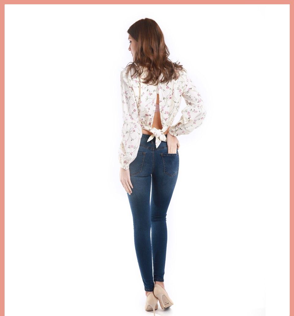 Autumn Winter Women Denim Skinny Pants Super Stretch Fake Front Pocket Waist Blue Grey Black White Slim Elastic Lady Jeans 27