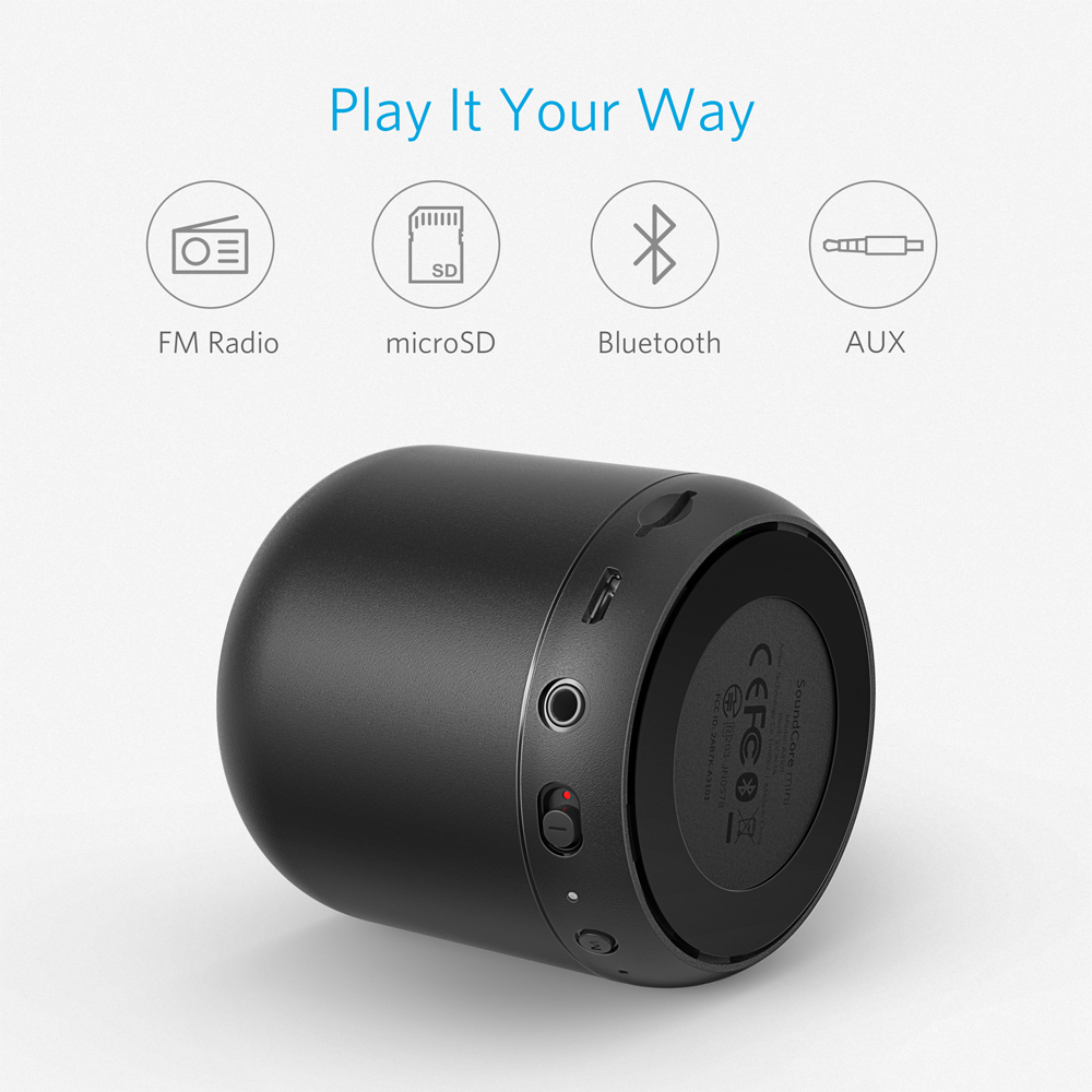 Mini Bluetooth Speakers Ture Wireless Stereo Speaker TWS Long Playtime Small Bluetooth Speaker with Impressive Volume and Bass Protable Bluetooth Speaker Bonus Travel Bag and Carabiner Clip