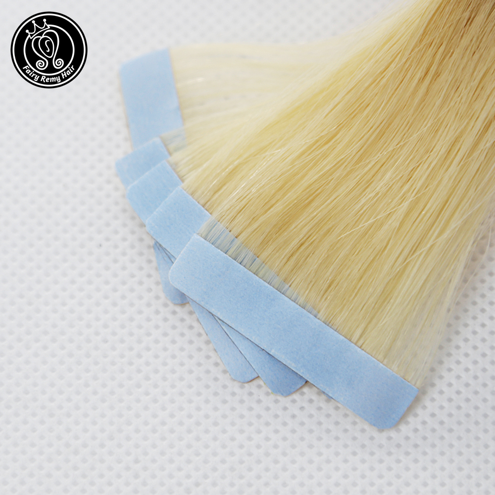 Real Remy Tape In Human Hair Extensions Seamless Skin Weft Salon Samples 5pcs For Testing Hair Fairy Remy Hair 2.0g/pc 10g/pack(China)