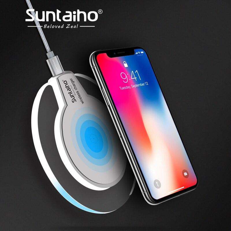 Qi Беспроводной Зарядное устройство для samsung Galaxy S8 S8Plus Suntaiho Мода зарядки док колыбели Зарядное устройство для iphone XS MAX XR 8 плюс телефон
