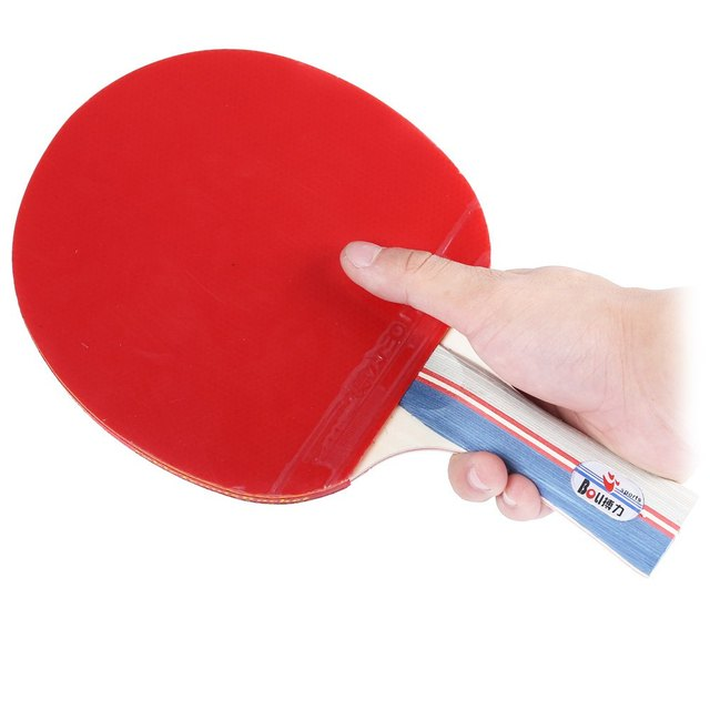 BOLI Ping Pong Set Pimples in Table Tennis Racket Three Balls Rubber ...
