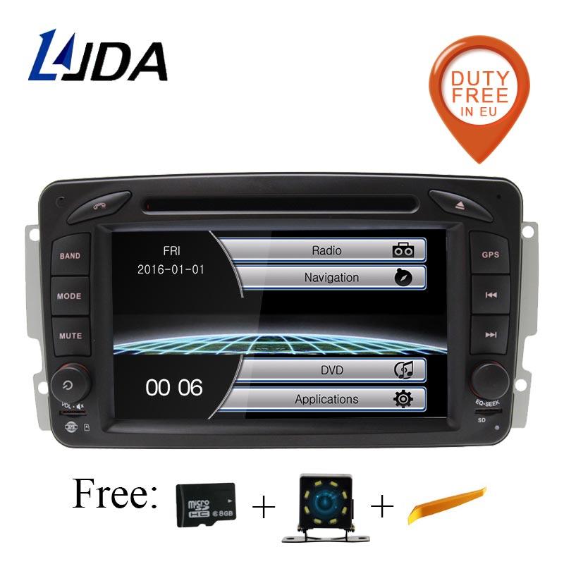 Lecteur DVD de voiture LJDA 2 Din pour Mercedes Benz W203 W208 W209 W210 W463 W168 ML W163 W463 Viano W639 Radio bluetooth navigation Gps