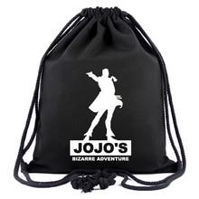 Anime JoJo's Bizarre Adventure Drawstring Bag Travel Rucksack Men Women String Backpack